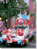 Union Square: Sowebo Art Festival - Give a big hand to the Art Car - a visual feast