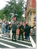 Union Square: Sowebo Arts Festival - People in the crosswalks